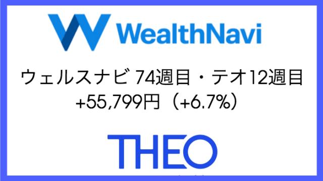 robo_result - ウェルスナビ74週目・テオ12週目の運用実績は+55,799円(+6.7%)【ロボアドバイザー】