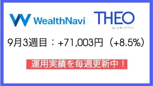 robo_result - ウェルスナビ77週目・テオ15週目の運用実績は+71,003円(+8.5%)【ロボアドバイザー】