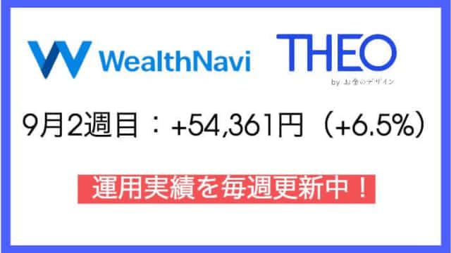 robo_result - ウェルスナビ76週目・テオ14週目の運用実績は+54,361円(+6.5%)【ロボアドバイザー】