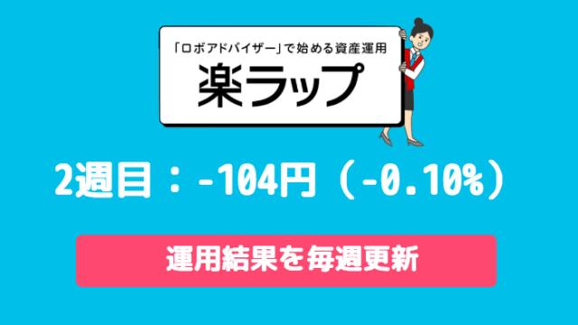 rakuwrap_result - 楽ラップの運用成績を毎週更新!2週目は-104円(-0.10%)