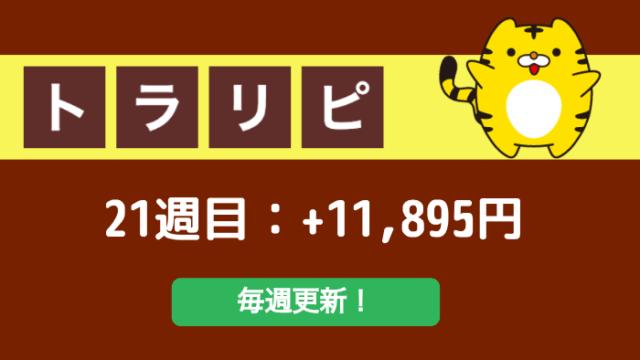 traprepertresult - 【トラリピ】21週目:運用実績は+11,895円でした!This is 不労所得
