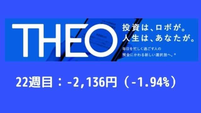 theo_result - THEO(テオ)22週目の運用実績は-2,136円(-1.94%)