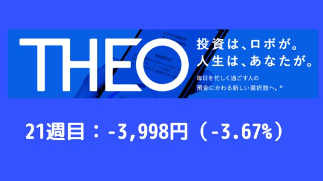 theo_result - THEO(テオ)21週目の運用実績は-3,998円(-3.67%)