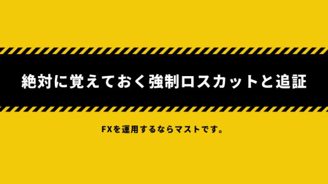 fx-kiso - 【FX】絶対に覚えておく強制ロスカットと追証【トラリピ・ループイフダン】