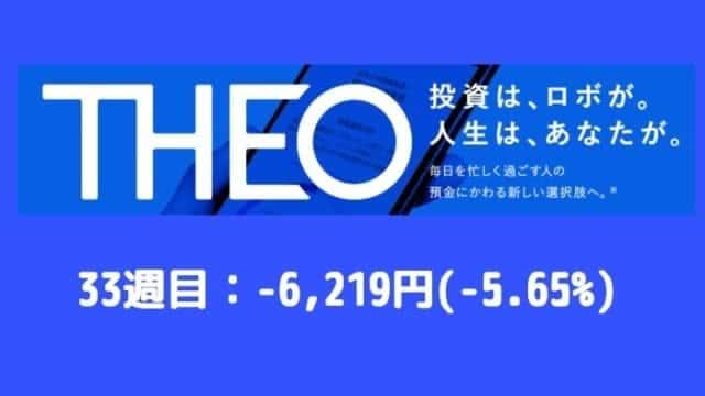 theo_result - THEO(テオ)33週目の運用実績は-6,219円(-5.65%)