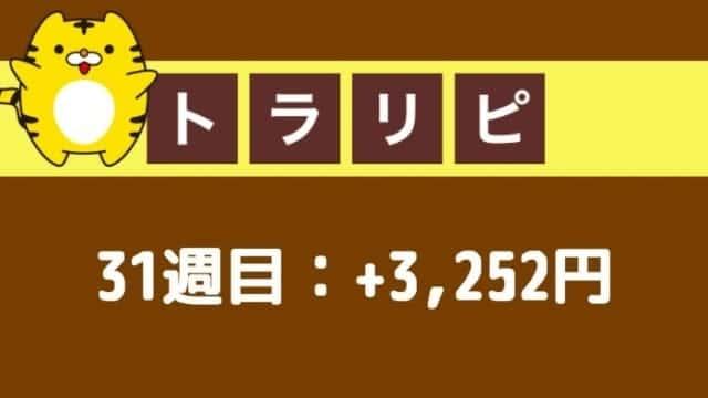 traprepertresult - 【トラリピ】31週目:運用実績は+3,252円の確定利益