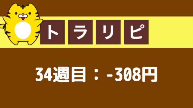 traprepertresult - 【トラリピ】34週目:運用実績は-308円のマイナススワップ!
