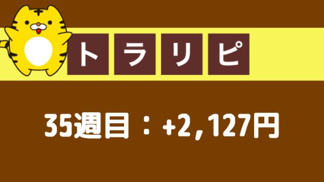 traprepertresult - 【トラリピ】35週目:運用実績は+2,127円の確定利益!