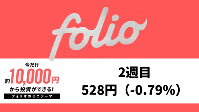 folio_result - FOLIO(フォリオ)2週目は-528円(-0.79%)【期間限定ミニテーマを運用】