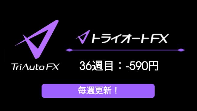 triautofxresult - 【トライオートFX】36週目:運用実績は-590円のマイナススワップ!