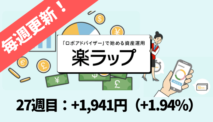 rakuwrap_result - 楽ラップの運用成績を毎週更新!27週目は+1,941円(+1.94%)