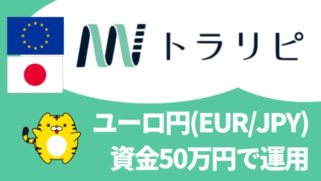 trarepe_set - 【トラリピ】ユーロ円(EUR/JPY)を50万円で運用!設定を詳しく解説