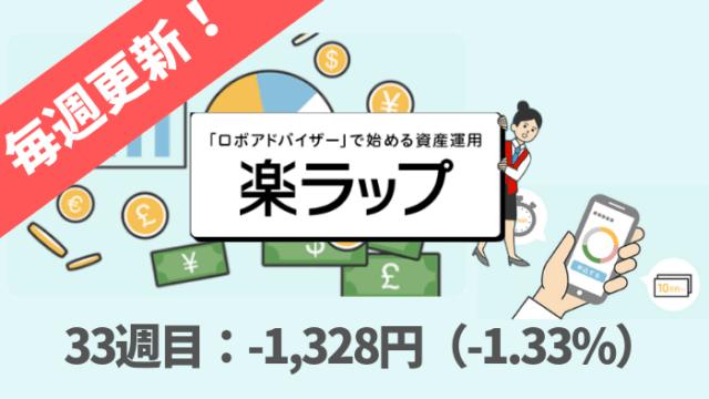 rakuwrap_result - 楽ラップの運用成績を毎週更新!33週目は-1,328円(-1.33%)