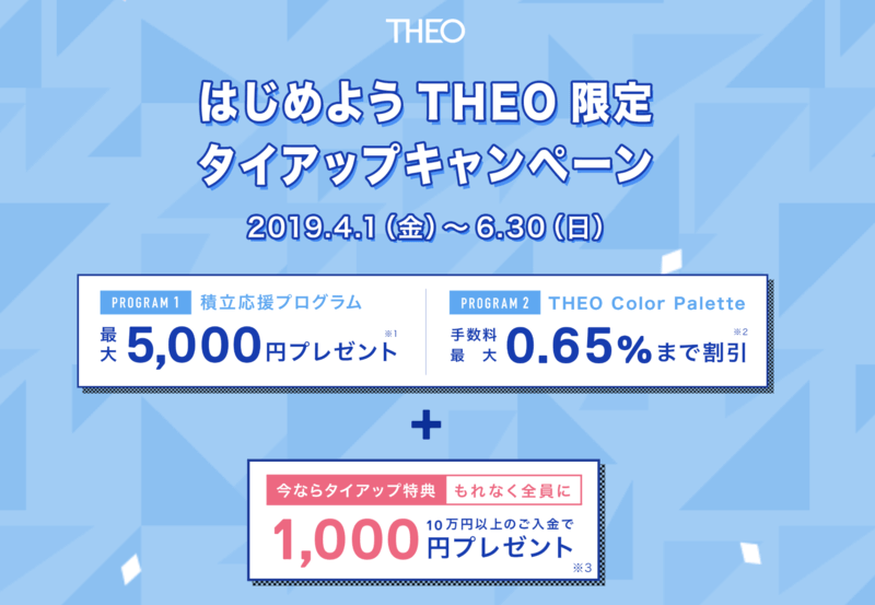 theo - THEO(テオ)レビュー!運用実績も公開 | メリット・デメリット・評判