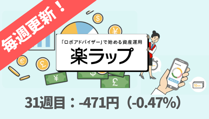 rakuwrap_result - 楽ラップの運用成績を毎週更新!31週目は-471円(-0.47%)