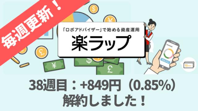 rakuwrap_result - 楽ラップの運用成績38週目は+849円(0.85%)今月で解約しました!