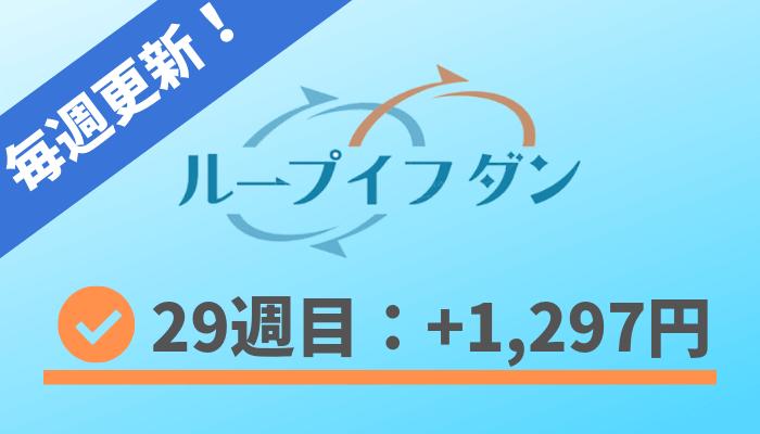 loopifdone_result - ループイフダン29週目の運用実績は+1,297円!ブログで実績公開
